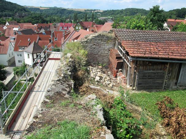 Sie sehen die Bilder zu: Stadt-/Schlossmauer Grünsfeld