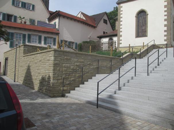 Sie sehen die Bilder zu: Ortsdurchfahrt Oberstenfeld, Verblendmauerwerk